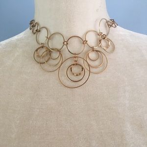 Paparazzi NWT brass hoop necklace